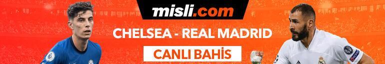 Chelsea - Real Madrid maçı Tek Maç ve Canlı Bahis seçenekleriyle Misli.com'da
