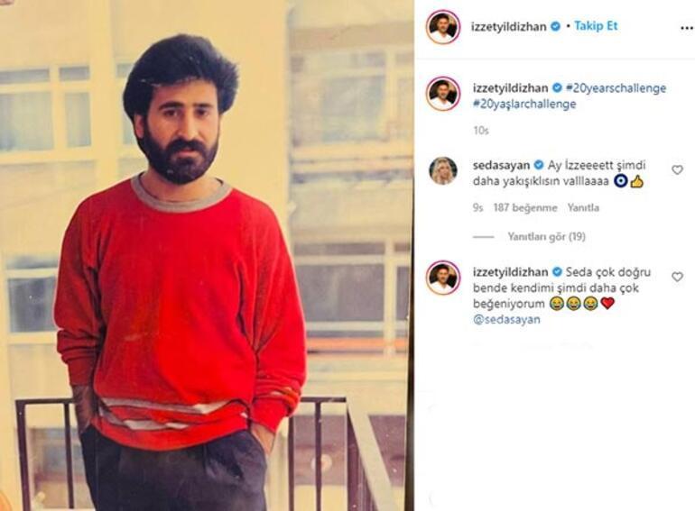 Seda Sayan, İzzet Yıldızhanın gençlik fotoğrafına kayıtsız kalamadı