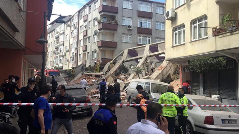 Son dakika haberi... Zeytinburnunda bina çöktü, araçlar altında kaldı