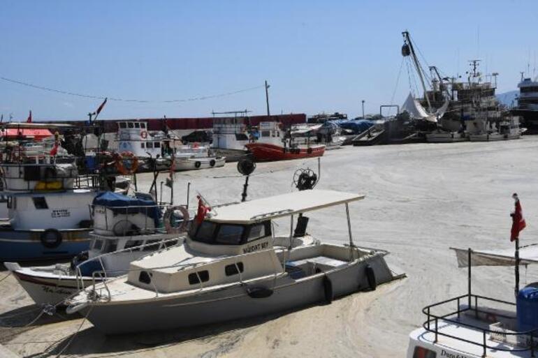 Tekirdağda deniz salyası nedeniyle balıkçılar denize açılamıyor