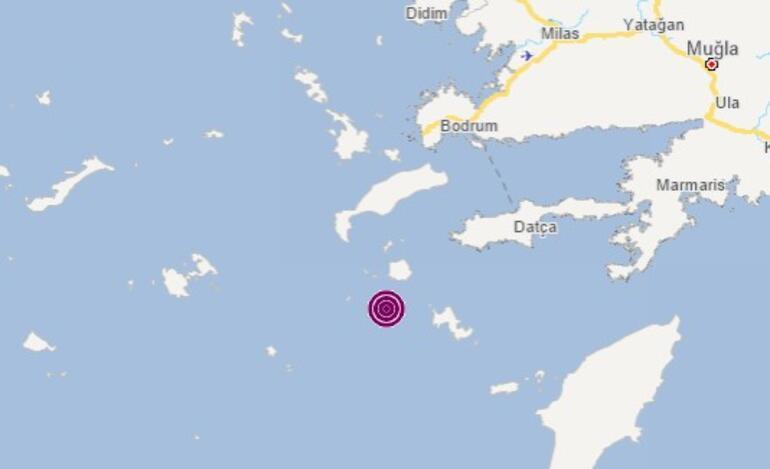 Ege Denizinde korkutan deprem Büyüklüğü...