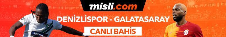 Denizlispor - Galatasaray maçı Tek Maç ve Canlı Bahis seçenekleriyle Misli.com'da