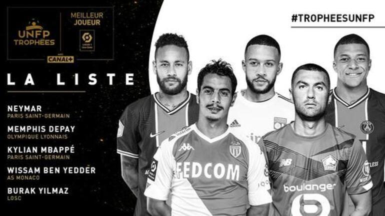 Burak Yılmaz, Fransada Yılın Futbolcusu ödülüne aday gösterildi
