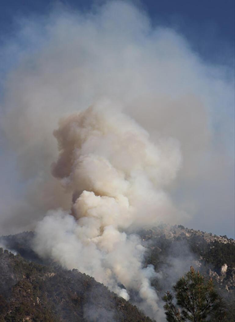Denizlide korkutan orman yangını