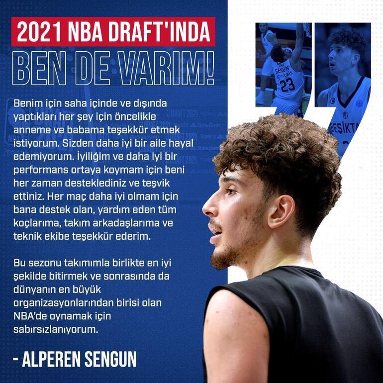 Alperen Şengün,  2021 NBA Draftına katılacağını açıkladı