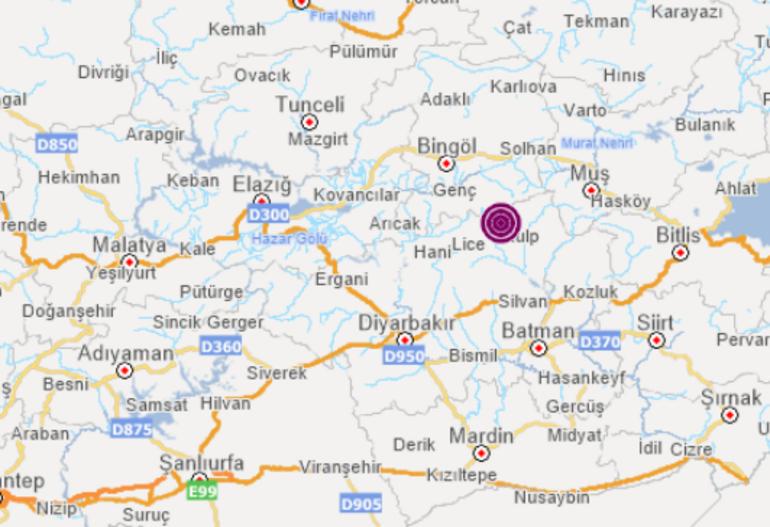 Son dakika: Diyarbakırda korkutan deprem