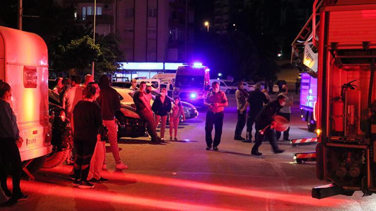 İzmirde 16 katlı sitede çıkan yangın söndürüldü