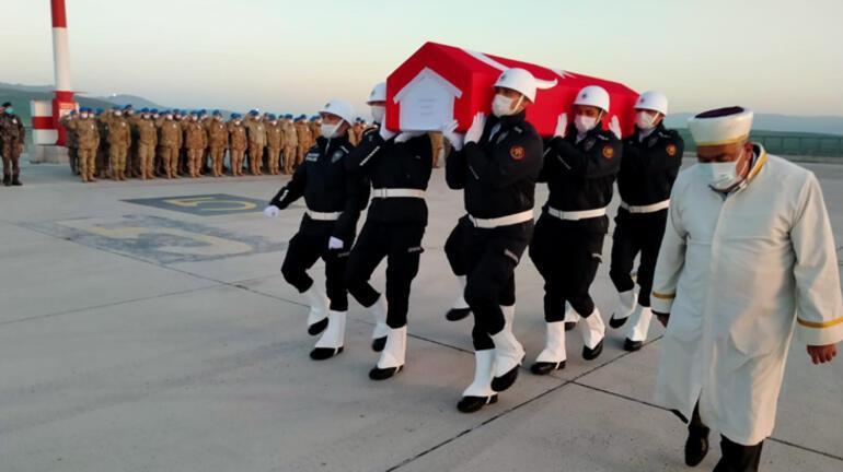 Ağrı'da şehit olan özel harekat polisi törenle memleketine uğurlandı
