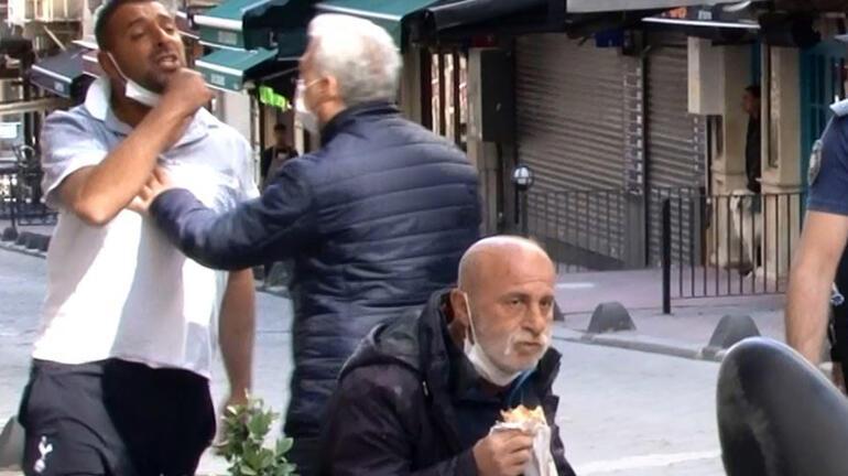 Taksimde seyyar satıcı-zabıta arbedesini polis sonlandırdı O dürümünü yemeye devam etti