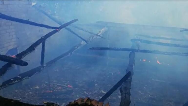 Alevler her yeri sardı 10 ton kül oldu