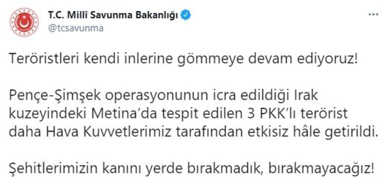 Son dakika... Metinada operasyon 3 PKKlı etkisiz hale getirildi