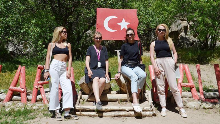 Kapadokyaya Ukraynalı turist ilgisi devam ediyor