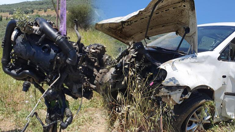 Son dakika I Bursada feci kaza Zeytinliğe yuvarlandı, aracın camından fırladı