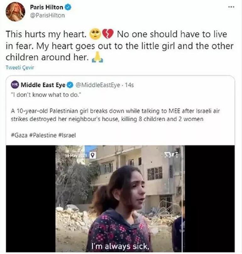 Paris Hilton İsraili eleştiren paylaşımını sildi