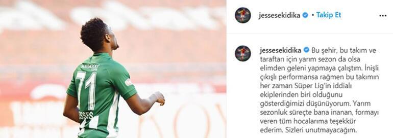 Son dakika - Jesse Sekidika Konyaspora veda etti Galatasaraya dönüyor