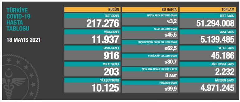 Son dakika: 18 Mayıs koronavirüs tablosu paylaşıldı İşte günlük vaka sayısı...