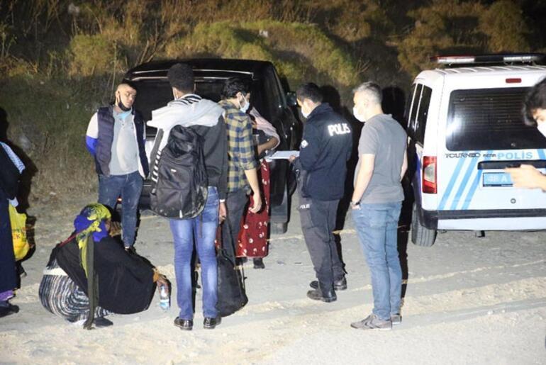Bodrumda 10 düzensiz göçmen yakalandı