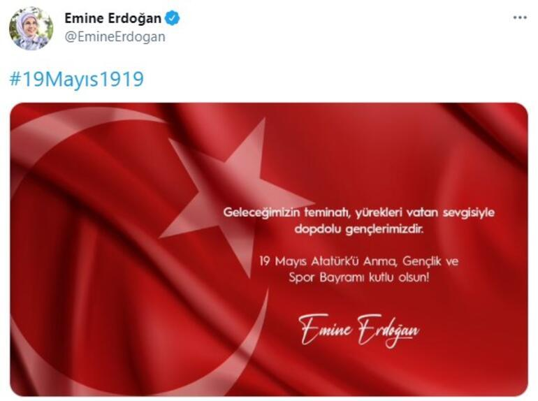 Emine Erdoğandan 19 Mayıs mesajı