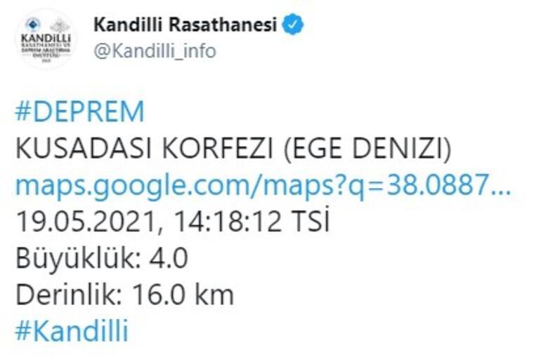 Son dakika deprem haberi: Ege Denizinde peş peşe korkutan depremler Şiddetleri açıklandı