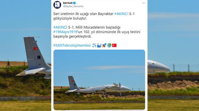 Bayraktar duyurdu: İlk uçuş testini başarıyla geçti