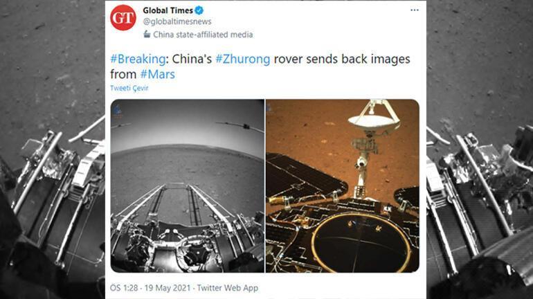 NASAdan Çine Mars fotoğrafları için tebrik mesajı
