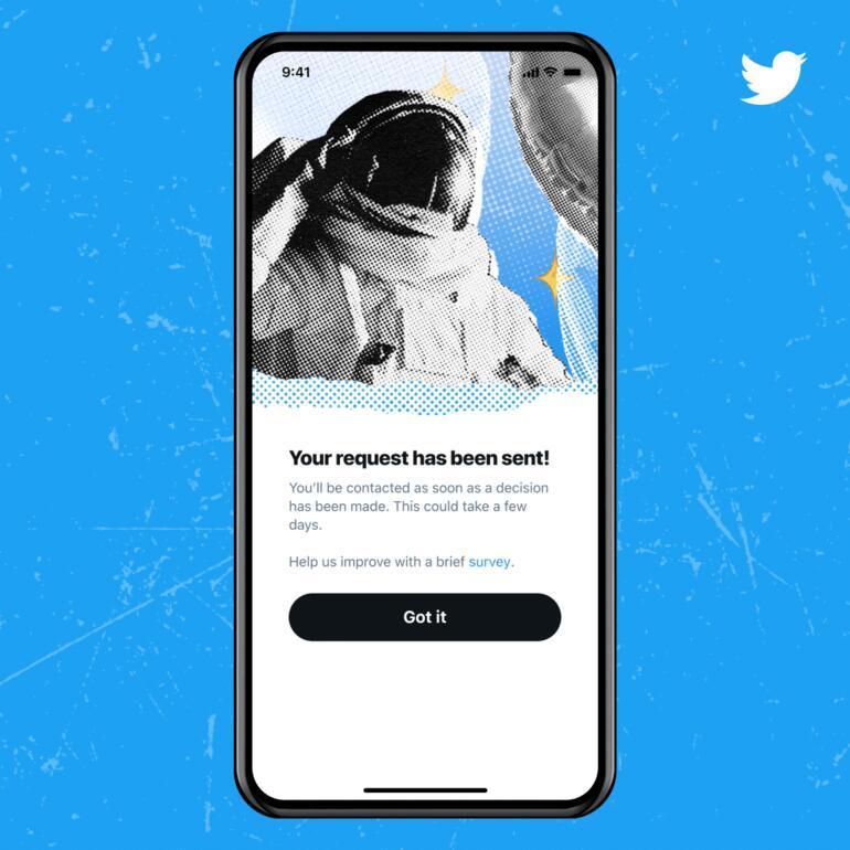 Twitter mavi tik özelliğini bütün herkese açtı: Başvurular başladı