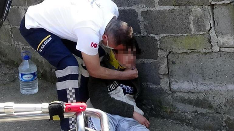 Sevdiğim kız beni bu hale getirdi dedi Ambulansa binerken fotoğrafını öptü
