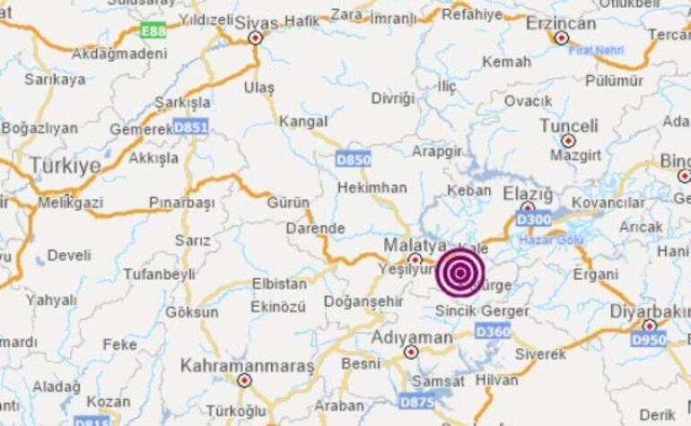 Son dakika haberi Malatyada korkutan deprem