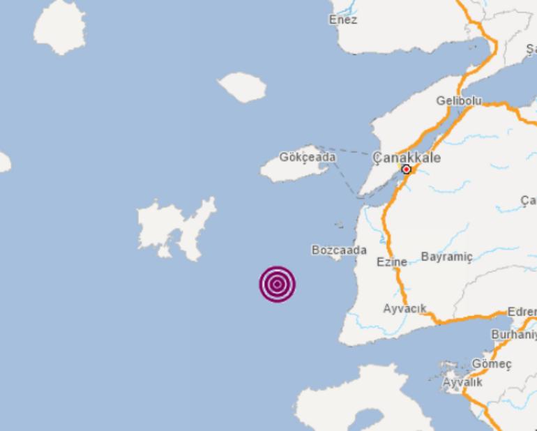 Son dakika: Ege Denizinde korkutan deprem