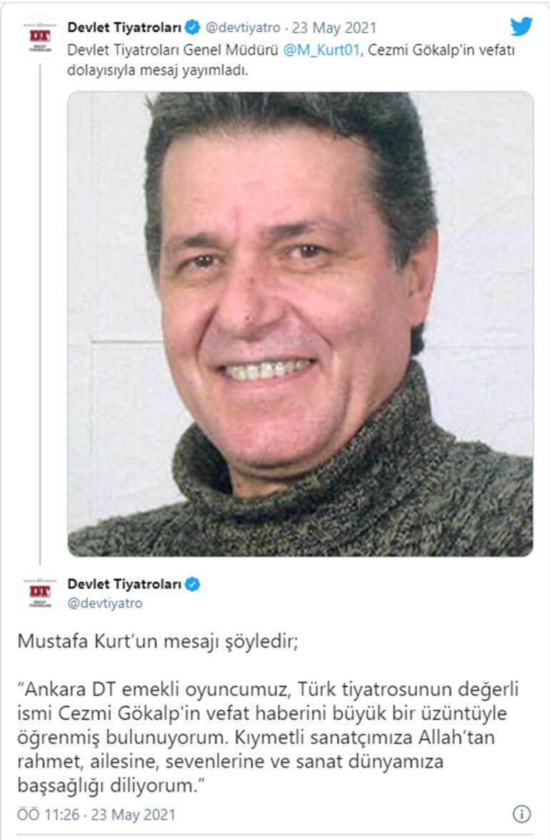 Oyuncu Cezmi Gökalp hayatını kaybetti