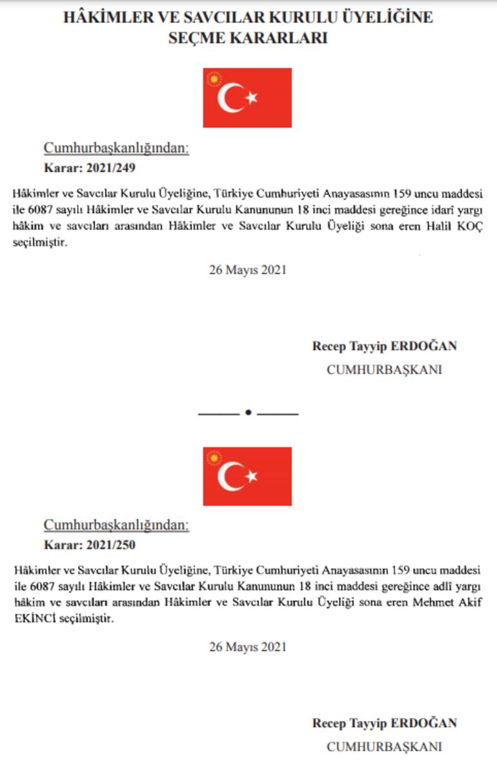 Son dakika: Resmen yayımlandı Cumhurbaşkanı Erdoğan 4 ismi HSK üyeliğine seçti