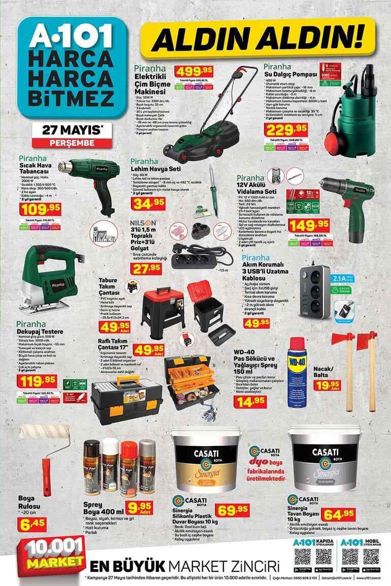 A101 aktüel kataloğunda yer alan ürünler satışta 27 Mayıs A101 indirimli ürünler kataloğunda bu hafta hangi ürünler var