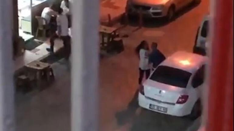 Dehşet verici görüntüler Eski eşini sokak ortasında dövdü