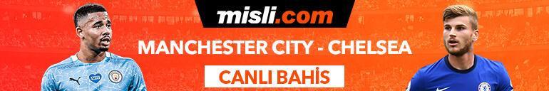 Manchester City - Chelsea maçı Tek Maç ve Canlı Bahis seçenekleriyle Misli.com'da