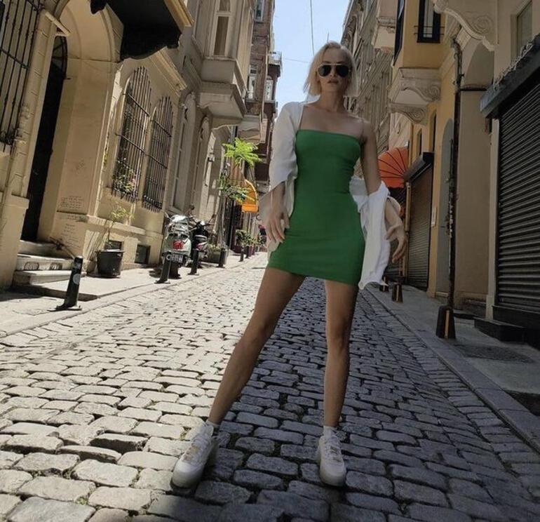 Didem Soydan, Galata sokaklarında poz verdi