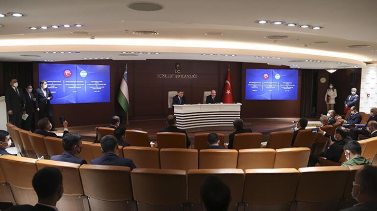 İçişleri Bakanı Soylu, Özbek mevkidaşı Bobojonov ile görüştü