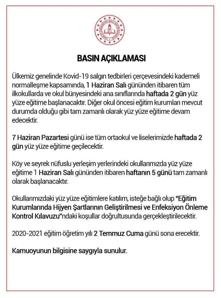 Milli Eğitim Bakanı Ziya Selçuk ne zaman, saat kaçta açıklama yapacak CNN TÜRK CANLI İZLE