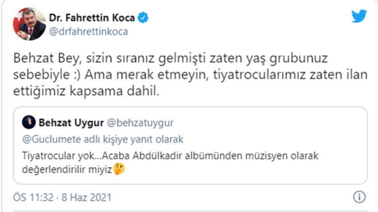 Fahrettin Kocadan Behzat Uygura esprili aşı yanıtı