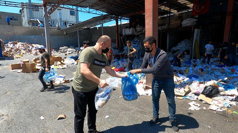 Yanlışlıkla çöpe atıldı 10 bin lira değerinde...