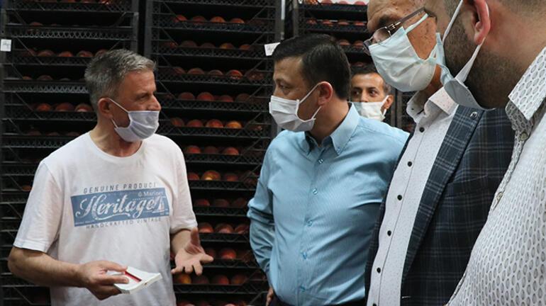 AK Partili Dağ, İzmir Sebze ve Meyve Halini ziyaret etti