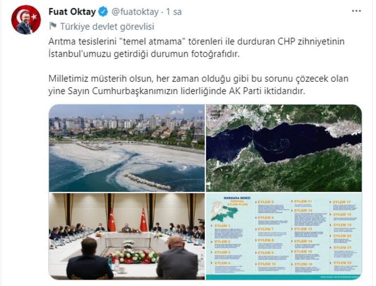 Oktaydan Marmara Denizindeki müsilaj sorunu  ile ilgili açıklama