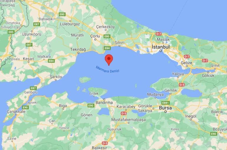Son dakika Marmara Denizinde 3.1 büyüklüğünde deprem