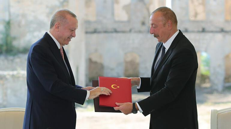 Son dakika... Türkiye ve Azerbaycandan anlaşma Cumhurbaşkanı Erdoğan ve Aliyevden açıklamalar