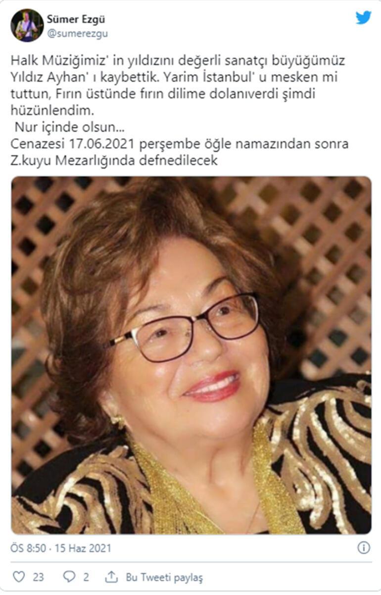Yıldız Ayhan hayatını kaybetti