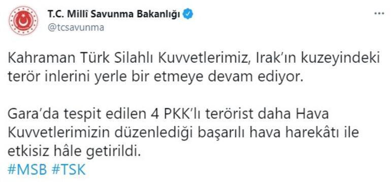 Garada 4 PKKlı terörist etkisiz hale getirildi
