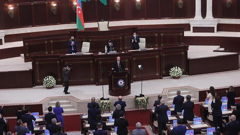 Son Dakika Haberi: Cumhurbaşkanı Erdoğandan Azerbaycan Millî Meclisinde flaş açıklamalar