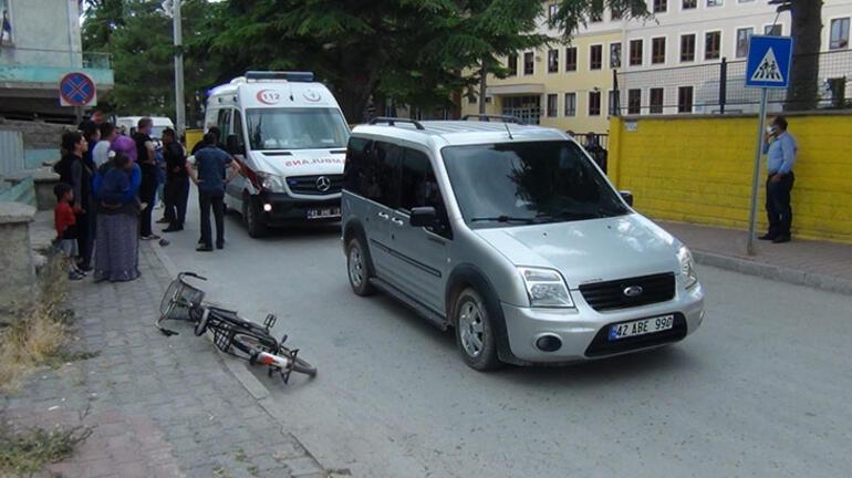 Konyada hafif ticari aracın çarptığı 4 yaşındaki çocuk yaralandı