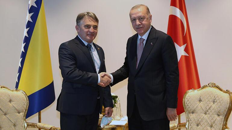 Cumhurbaşkanı Erdoğan, Bosna-Hersek Devlet Başkanlığı Konseyi üyeleriyle görüştü