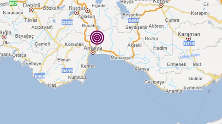 Son Dakika: Antalyada korkutan deprem