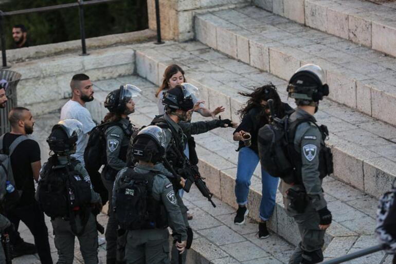 Gerginlik sürüyor İsrail polisi saldırdı